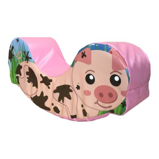 Pig soft play rocker foam shape for children