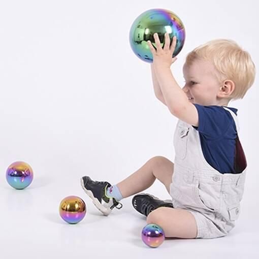 Sensory tactile rainbow reflective balls