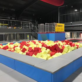 Foam Trampoline Park Agility Course Foam Pit Feature