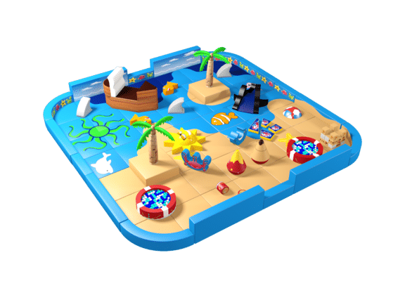 Beach theme pack away soft play demountable
