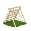 High A Frame Netting Outdoor Climbing Frame Timber Playground Equipment