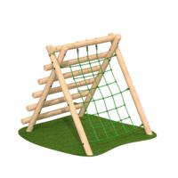 High A Frame Netting Outdoor Climbing Frame Timber Playground Equipment
