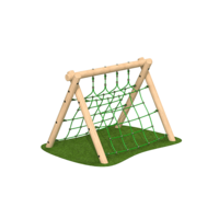 Low A Frame Netting Outdoor Climbing Frame Timber Playground Equipment