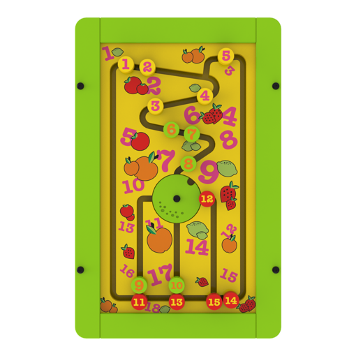 Green counting wheel interactive activity panel wall mounted