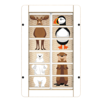 Arctic Theme Animal Activity Panel Interactive Features Wall Mounted