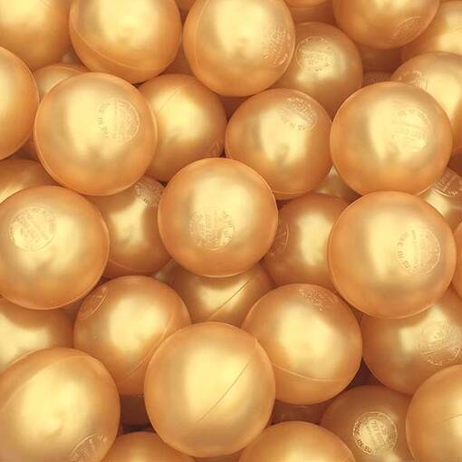 Gold ball pool pit balls soft play indoor playground equipment