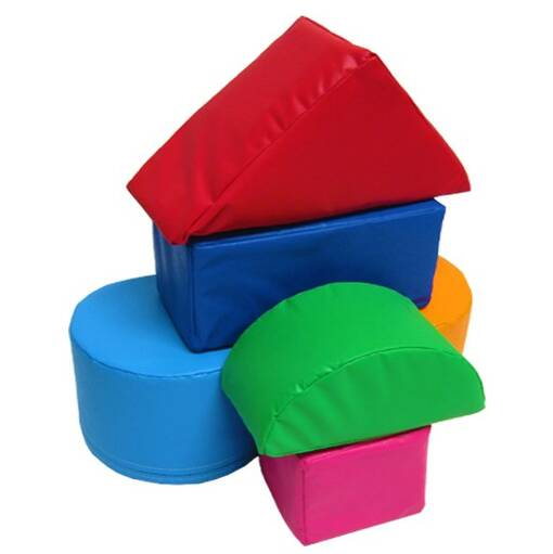 House building block puzzle set soft play shapes indoor playground equipment