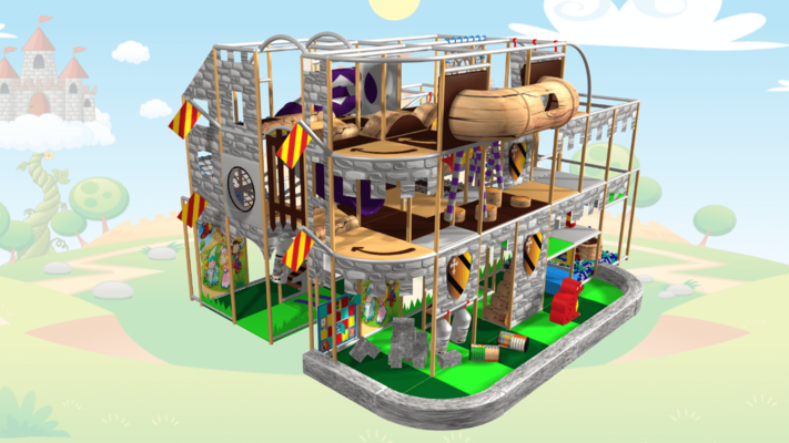 Fantasy Castle Indoor Playground Soft Play Design