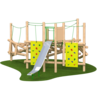 Climbing Frame with Climbing Features Slide Ropes Timber Outdoor Playground Equipment