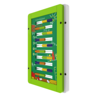 Green Counting Interactive Activity Panel Wall Mounted