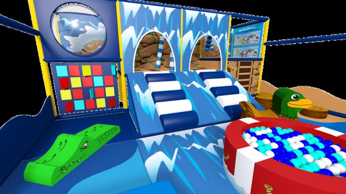 Waterfall indoor playground soft play design