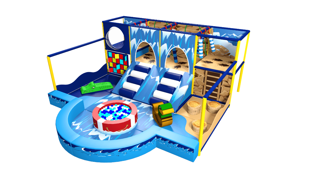 Waterfall indoor playground soft play design