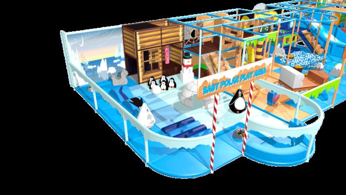 Multi theme city, arctic & beach indoor playground soft play design