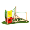 Climbing Frame with Ropes Nets Climbing Features Timber Outdoor Playground Equipment