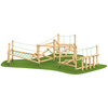 Climbing frame with netting climbing wall timber outdoor playground equipment
