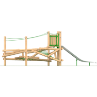 Climbing Frame with Climbing Features Ropes Slide Timber Outdoor Playground Equipment