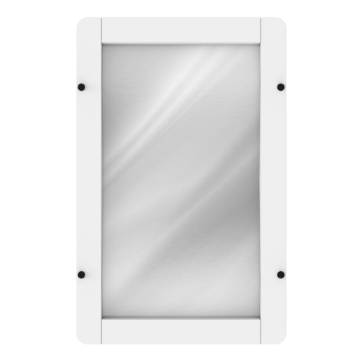 White reflective mirror interactive activity panel wall mounted