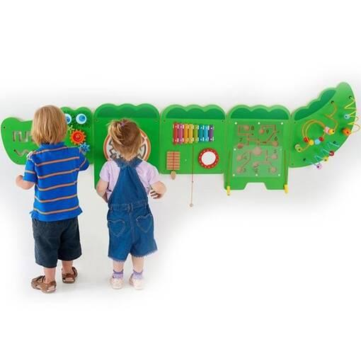 Crocodile animal theme interactive wall mounted activity panel sensory room soft play indoor playground equipment