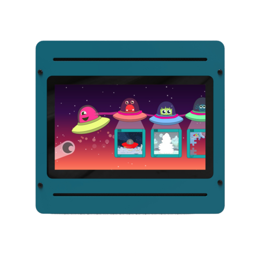 Space alien theme digital games activity wall panel wall mounted interactive features