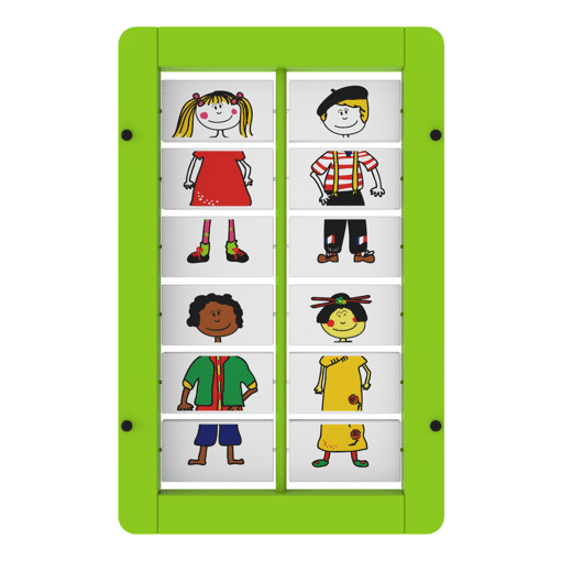 Interactive wall panel puzzle activity