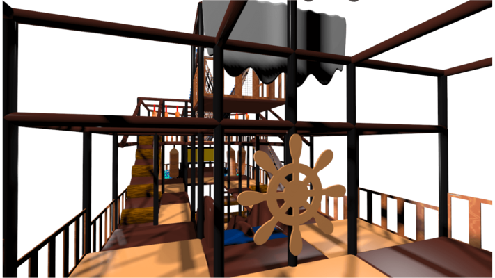 Pirate ship indoor playground soft play design