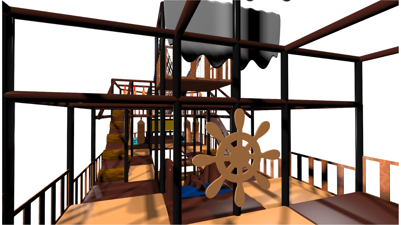 Pirate ship indoor playground soft play design
