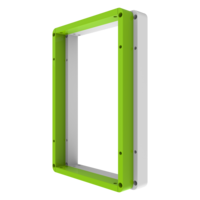 White Green Activity Panel Frame Wall Mount Interactive Features