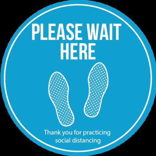 Social distancing floor vinyl - blue multi pack