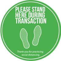 Social Distancing Floor Vinyl - Green Multi Pack
