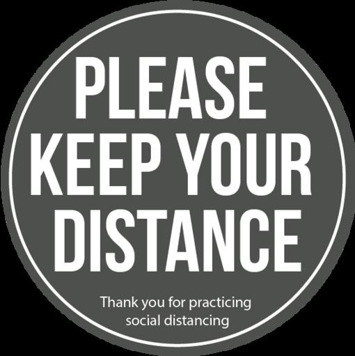Social distancing floor vinyl - grey multi pack