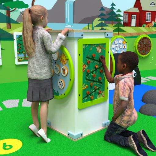 Free standing activity panel column interactive features