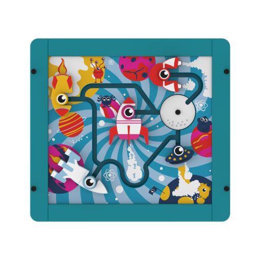 Alien monster theme spinning puzzle activity panel interactive features
