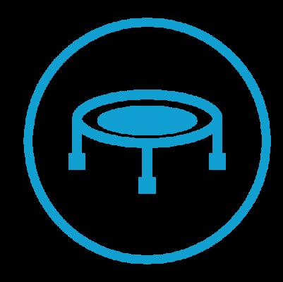 Trampoline park design features icon