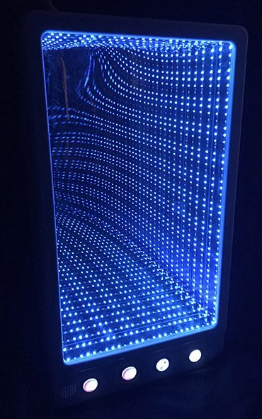 Blue led infinity panel interactive colour changing sensory room equipment