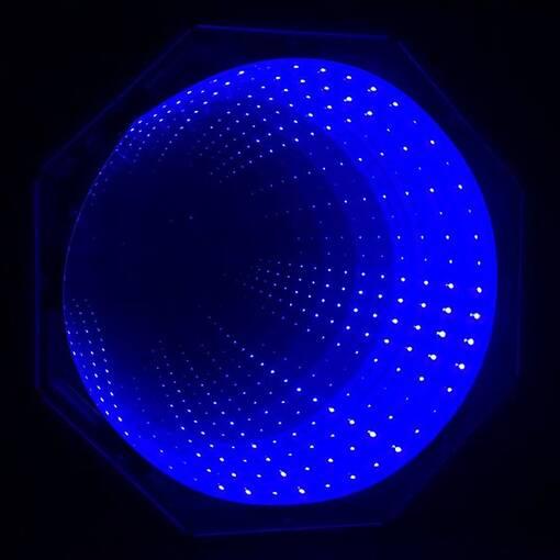 Blue infinity tunnel panel led sensory room equipment