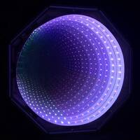 Purple Lilac Infinity Tunnel Panel LED Sensory Room Equipment