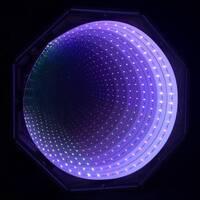 Purple lilac infinity tunnel panel led sensory room equipment