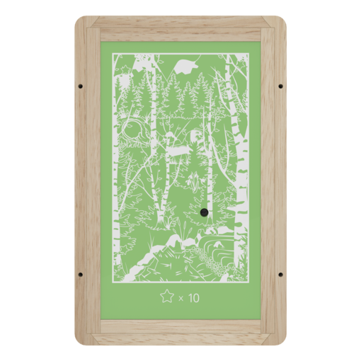 Arctic winter forest theme animal activity panel interactive features wall mounted