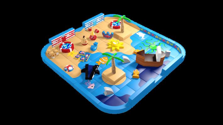 Beach pack away demountable soft play design