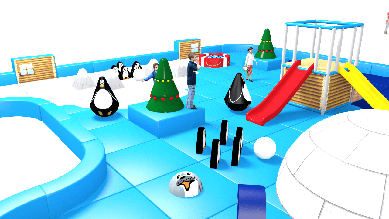 Winter wonderland pack away demountable soft play design