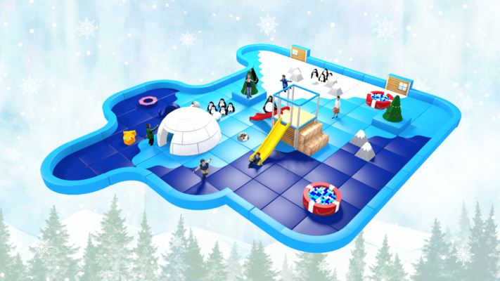 Winter Wonderland Pack Away Demountable Soft Play Design