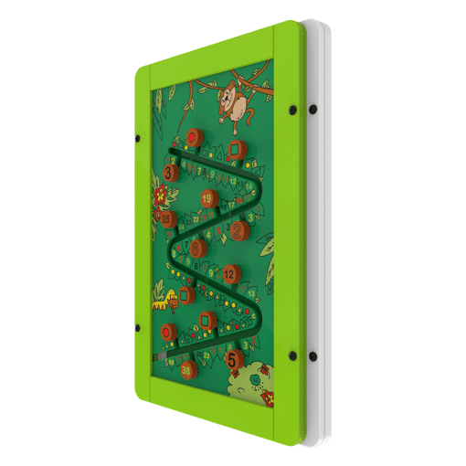 Interactive wall panel jungle sorting activity