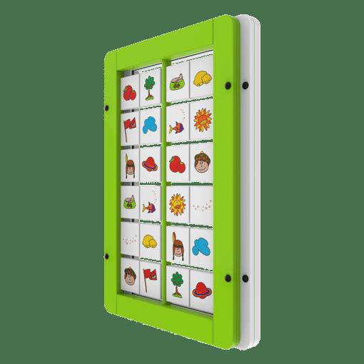 Interactive wall panel memory activity