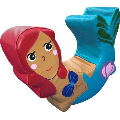 Fantasy mermaid soft play character rocker indoor playground equipment