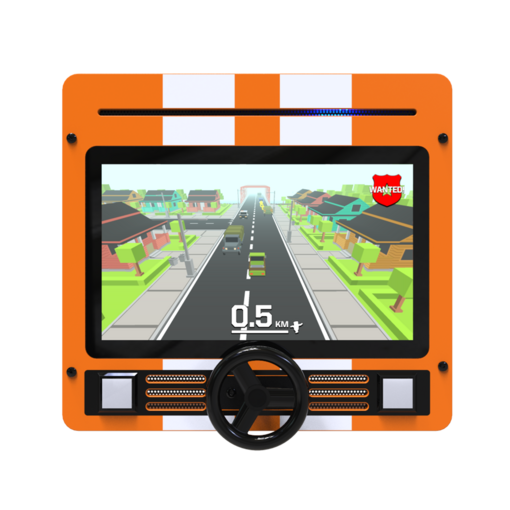 Racing theme digital games activity wall panel wall mounted interactive features