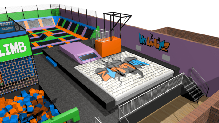 Trampoline Park Air Bag Design Features
