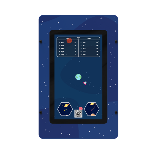 Alien space theme digital games activity wall panel wall mounted interactive features