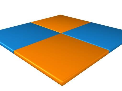 Floor padding soft play indoor playground trampoline park agility course sensory room design maintenance