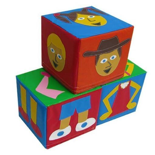 Characters people puzzle cubes soft play shapes indoor playground equipment
