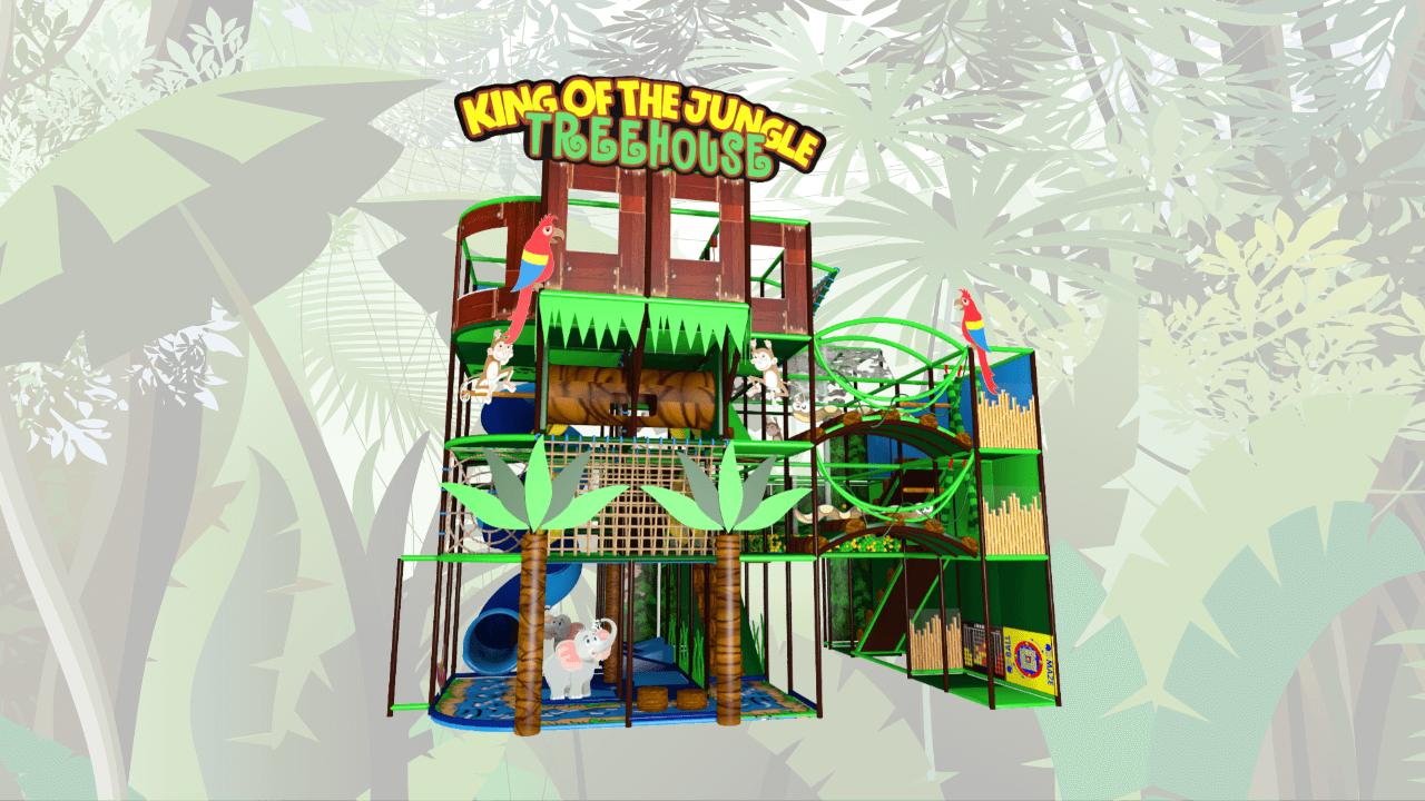 Tree-house jungle indoor playground soft play centre design